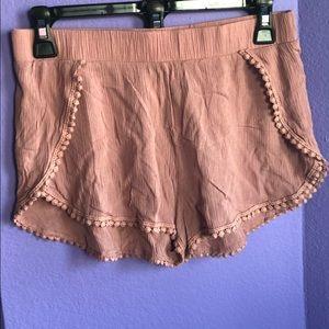 Ping crepe shorts